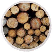 Stacked Timber Two Round Beach Towel
