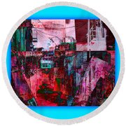 Stackin' The Alley Walk About Round Beach Towel