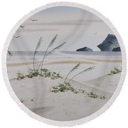 Stacks And Oats 1 Round Beach Towel