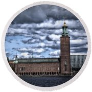 Stadshuset Color II Round Beach Towel