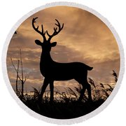 Stag 002 Round Beach Towel