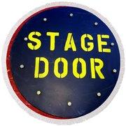 Stage Door Round Beach Towel