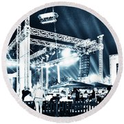 Stage Lights Round Beach Towel