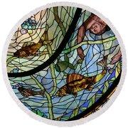 Stain Glass Set 1 - Bath House - Hot Springs, Ar Round Beach Towel
