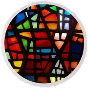 Stained Glass 2 Round Beach Towel