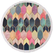 Stained Glass 3 Round Beach Towel