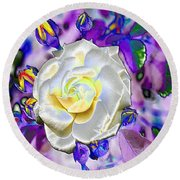 Stained Glass Beauty Round Beach Towel