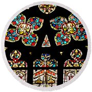Stained Glass Glory Round Beach Towel
