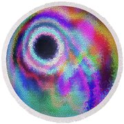 Stained Glass Morph #107 Round Beach Towel