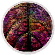 Stained Glass Not Round Beach Towel