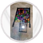 Stained Glass Sofa Table Round Beach Towel