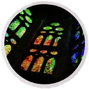 Stained Glass Windows -  Round Beach Towel