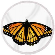 Stained Glass Wings Round Beach Towel