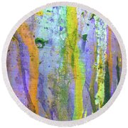 Stains Of Paint Round Beach Towel by Carlos Caetano