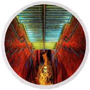 Staircase Into Hell Round Beach Towel