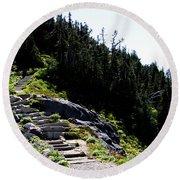 Stairs Along Skyline Trail Round Beach Towel