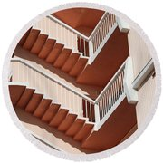 Stairs And Rails Round Beach Towel