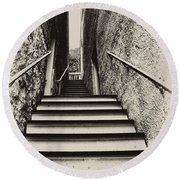 Stairs At Harpers Ferry Round Beach Towel