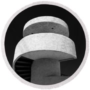 Stairs To Nowhere Round Beach Towel by Dave Bowman