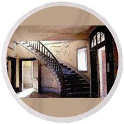 Stairway -  Meade Hotel - Bannack Mt Round Beach Towel