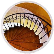 Stairway In Cabo Round Beach Towel