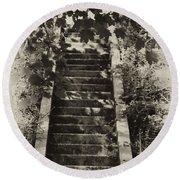Stairway To Heaven Round Beach Towel
