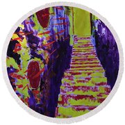 Stairway To Heaven Round Beach Towel