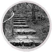 Stairway To Nature Round Beach Towel
