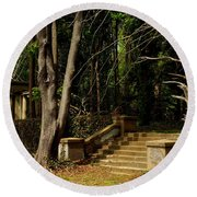 Stairway To Nowhere Round Beach Towel
