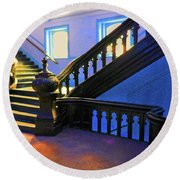 Stairwell Of Color Round Beach Towel