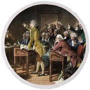 Stamp Act: Patrick Henry Round Beach Towel
