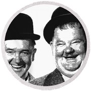 Stan And Ollie - Parallel Hatching Round Beach Towel