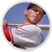 Stan Musial Round Beach Towel