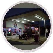 Standard Oil Museum After Dark 20 Round Beach Towel