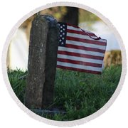 Standing Strong Round Beach Towel