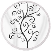 Standing Tall - Inverted  Round Beach Towel