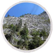 Standing Tall - The Bicaz Gorge Round Beach Towel