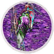 Standing Watch Round Beach Towel