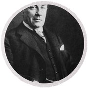 Stanley Baldwin, English Politician Round Beach Towel by Photo Researchers