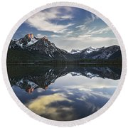 Stanley Lake Round Beach Towel