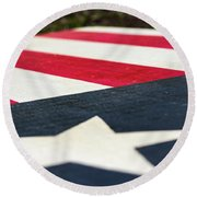 Star And Stripes Round Beach Towel