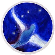 Star Bird Round Beach Towel