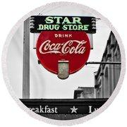 Star Drug Store Round Beach Towel