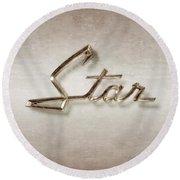 Star Emblem Round Beach Towel