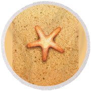 Star Fish Round Beach Towel