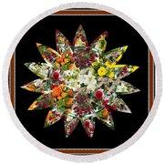 Star Flower Bouquet Creation By Navinjoshi At Fineartamerica.om Graphics Art   Elegant Interior Deco Round Beach Towel