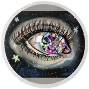 Star Gazing Round Beach Towel