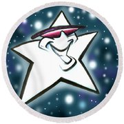 Star Round Beach Towel