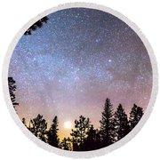 Star Light Star Bright Round Beach Towel