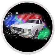 Star Of The Show - 66 Mustang Round Beach Towel